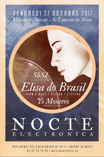 affiche soirée musique électronique elisa do brasil